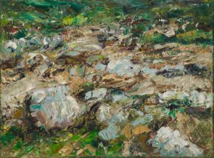 Rudi Weiss Garten, 24-09 Öl auf Leinwand