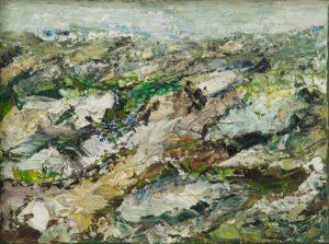 Rudi Weiss Garten, 39-10 Öl auf Leinwand