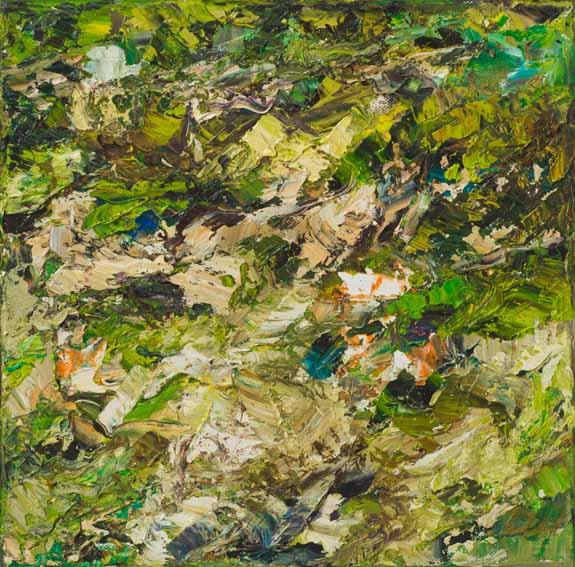 Rudi Weiss Garten, 5-07 Öl auf Leinwand