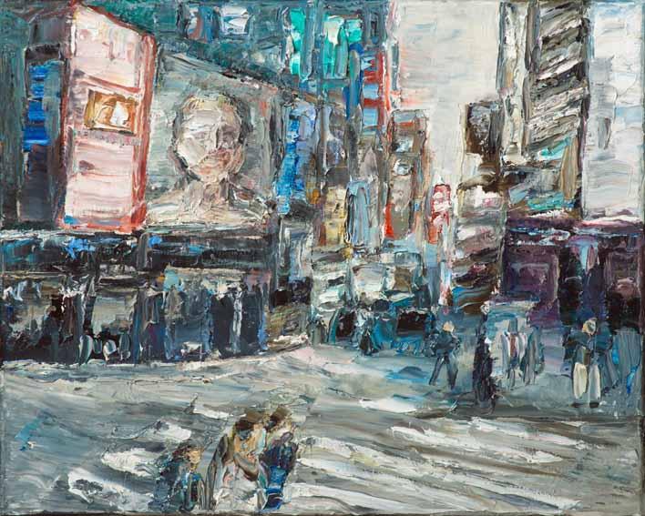 Rudi Weiss New York, 30-2017 Öl auf Leinwand