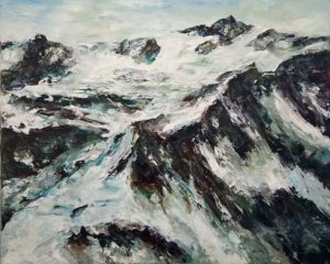 Rudi Weiss Berge, 16-2017 Öl auf Leinwand