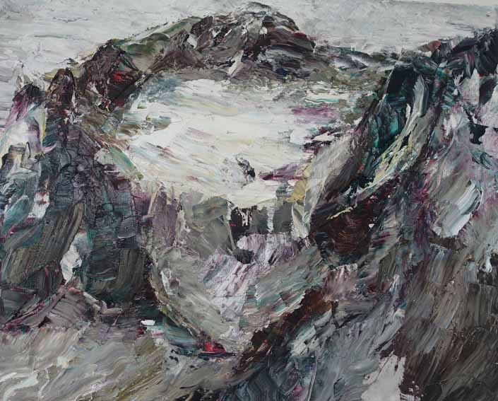 Rudi Weiss Berge, 24-2019 Öl auf Leinwand