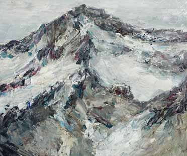 Rudi Weiss Berge, 25-2019 Öl auf Leinwand