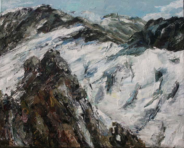 Rudi Weiss Berge, 37-2012 Öl auf Leinwand