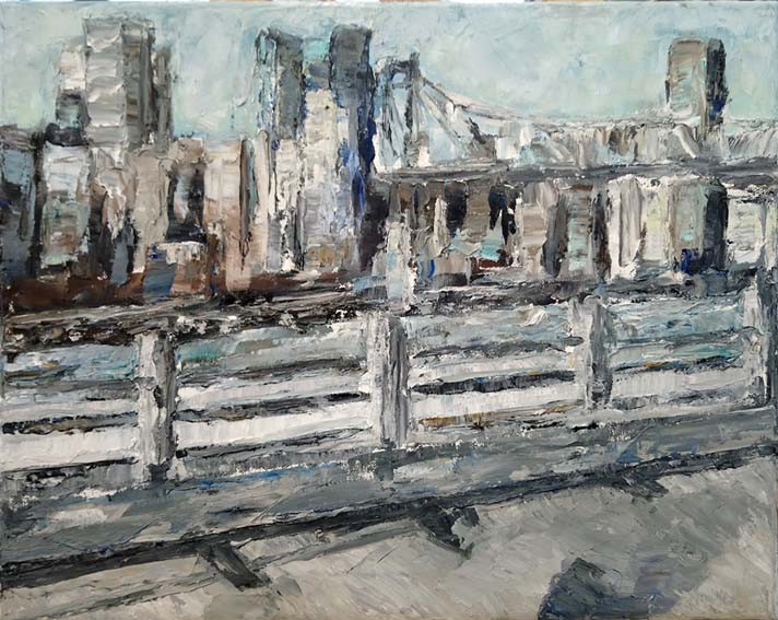 Rudi Weiss New York II, 32-2017 Öl auf Leinwand