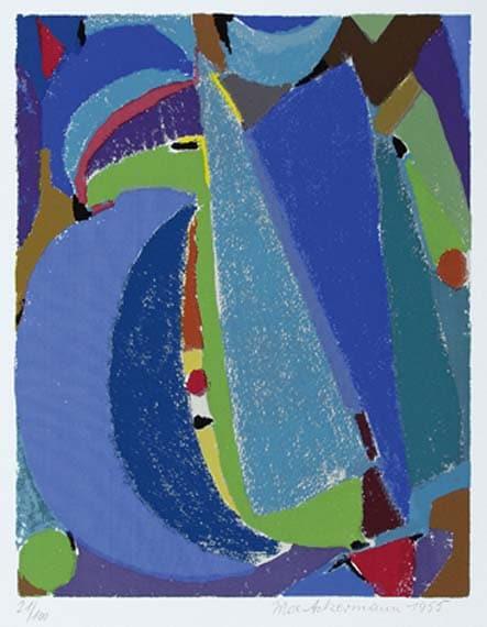 Max Ackermann Blaues Spektrum, 1955