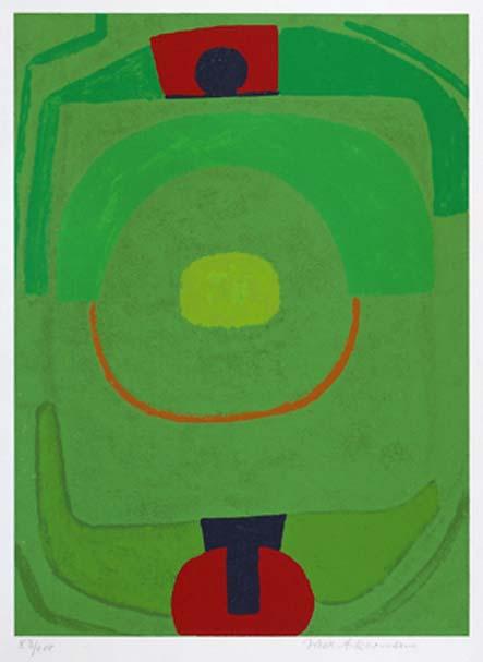 Kontrapunkt grün auf grün, 1968 (1968 / 1969 / 1972)