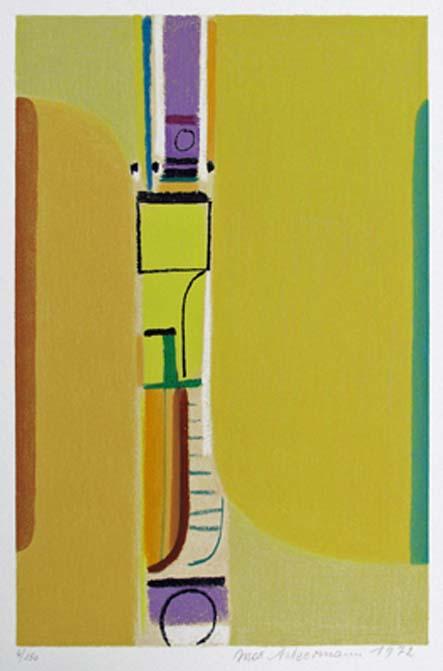 Max Ackermann Strahlende Pforte, 1972