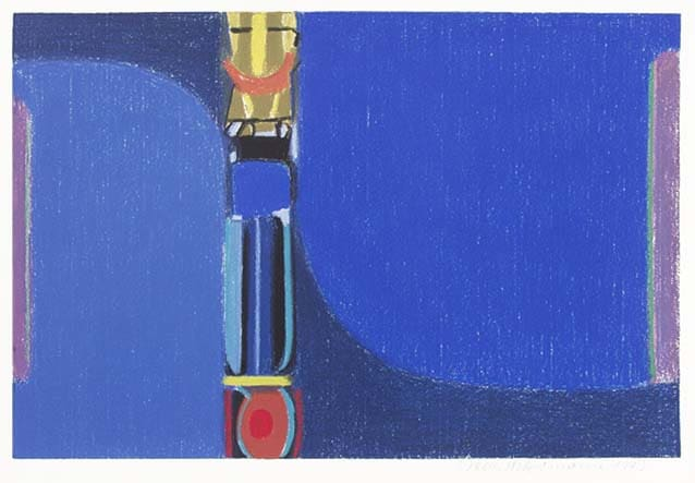 Max Ackermann Kraftfeld Blau, 1973