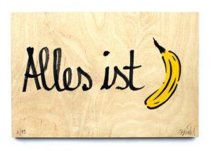 Thomas Baumgärtel Bananensprayer Alles ist Banane