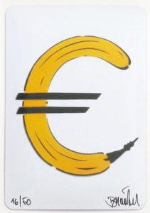 Thomas Baumgärtel Bananensprayer Art in Box: Eurobanane