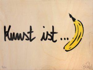 Thomas Baumgärtel Bananensprayer Kunst ist Banane
