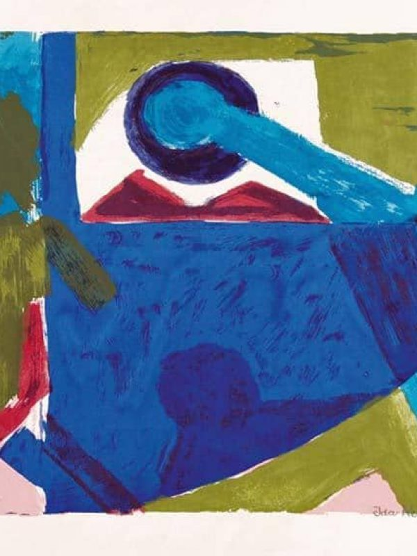 Figuren auf Blau