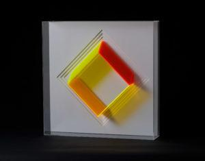 Klaus Joas Wandobjekt, Gelb-Orange-Rot